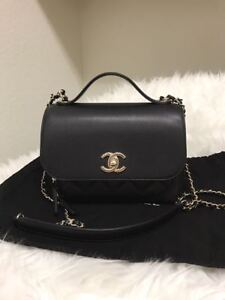5e3b82f9a444 Image is loading AUTH-NEW-CHANEL-CLASSIC-BUSINESS-AFFINITY-CAVIAR-BLACK-