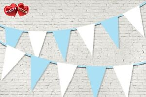 Baby-Blue-Coloured-Bunting-Banner-15-Flags-12ft-Baby-shower-Boy-by-PARTY-DECOR