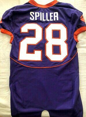 C.J. Spiller Clemson Tigers TEAM ISSUED authentic Nike stitched purple jersey CJ | eBay