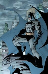 Jim Lee Rare Knightwatch Giclee Canvas Signed Batman Hush Cover With Coa Ebay