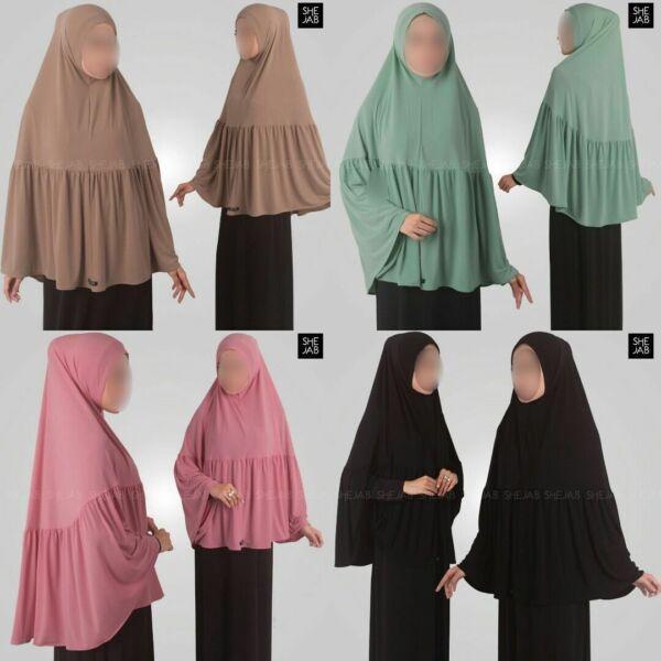 Instant Hijab Musulmano Islamico Sciarpa Scialle Preghiera Ramadhan Eid Khimar Al Amira Lieve E Dolce