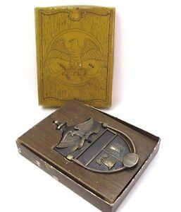 Vintage-Door-Knocker-Eagle-Liberty-Bell-USA-Flag-Metal-Bicentennial-New-In-Box