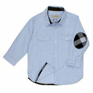 BURBERRY-Chemise-feincord-Bleu-clair-OUTLET-SALE-Offre