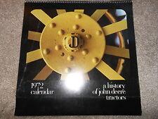 Vintage 1972 John Deere Calendar History of John Deere Tractors Salem Wisconsin
