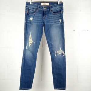 Hollister-Socal-Stretch-Jeans-Junior-Size-5-Short-Distressed