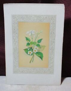 ANTIQUE-CHROMOLITHOGRAPH-JASMINE-amp-STRAWBERRY-BLOSSOM-CHARLES-TERRY-JOHN-INGRAM