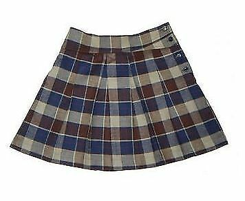 100/% Made in Britain Girls Soft Pleated Check Skirt Age 5-6 Hey Joe Clothing