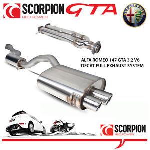 alfa romeo 147 gta 3.2 v6 scorpion decat performance stainless
