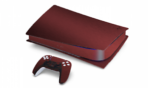 MATTE-METALLIC-BURGUNDY-SKIN-FOR-PS5-PLAYSTATION-DISC-VERSION