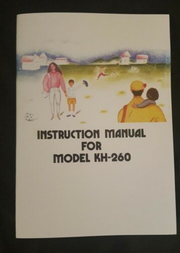 Brother Knitting Machine KH 260 Instruction manual brand new book