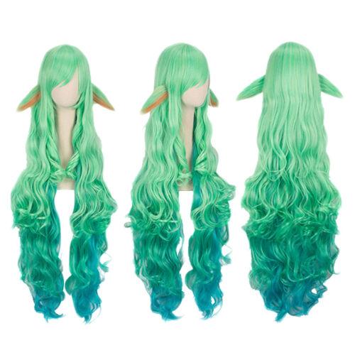 100cm Wig LOL Soraka Wig Star Guardian Cosplay Costume Hair Wig Free Net Women