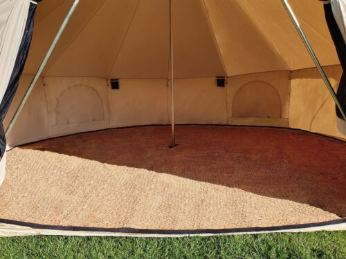 Bell Tente Planchers Coco Matting 3 m 5 m 4 m 6 m Glamping Camping Extérieur Tapis
