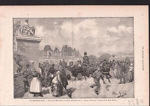 DEPART-EXIL-COMTE-DE-PARIS-CHATEAU-D-039-EU-1886-GRAVURE-ANTIQUE-PRINT