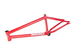 Domingo bicicletas nocturno 21.25 Cuadro para Bicicleta De Bmx Rojo Rubí 21.25  S&M 21.25 pulgadas