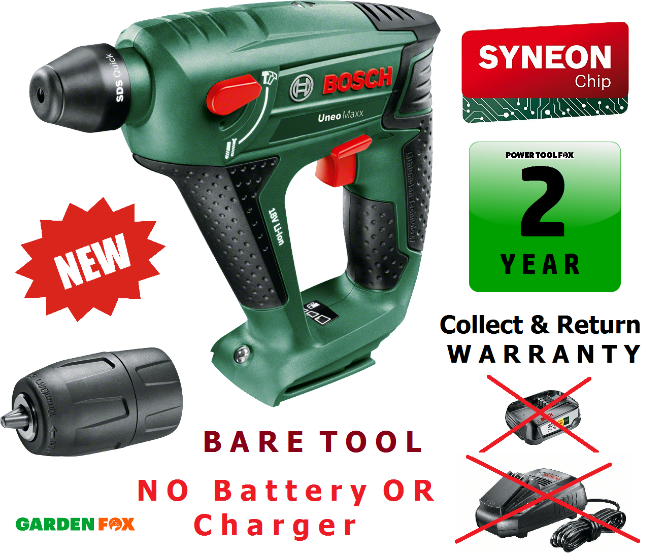 bosch uneo maxx 18 cordless hammer drill without battery and charger