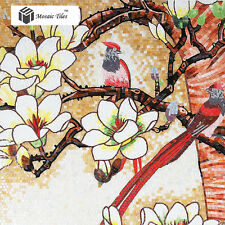 Traditional Red Magpie Lucky Customized Murals Mosaic for Interior Walls Decor