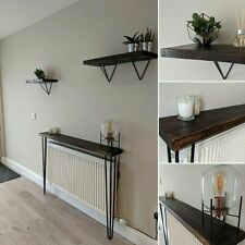 Scaffold Board Console/Hallway Table - Hairpin legs table Industrial Rustic
