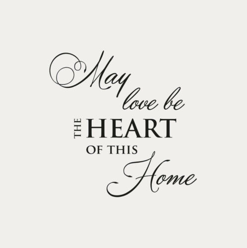 Q18 ,,MAY LOVE BE THE HEART OF THIS HOME Reusable Stencil A5 A4 A3 Wall Decor