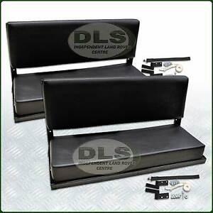 Rear Bench Seat Set Black Vinyl Land Rover Defender 90 To2016 Series SWB (320737