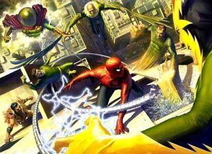 Mysterio-Vulture-Sandman-Electro-Kraven-Doc-Ock-Spider-Man-Art-Canvas-Alex-Ross