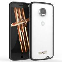 For Motorola Moto Z Prism Tpu Grip Bumper Slim-fit Transparent Bumper Case