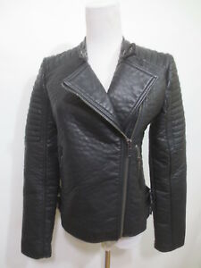 Jacket Black Leatherette Like Suit New a1 Mango Ecopelle Ca S Biker 34 47qBaBdw