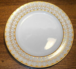Fancy-Porcelain-Dinner-Plate-Royal-Crown-Derby-England-10-1-4-034
