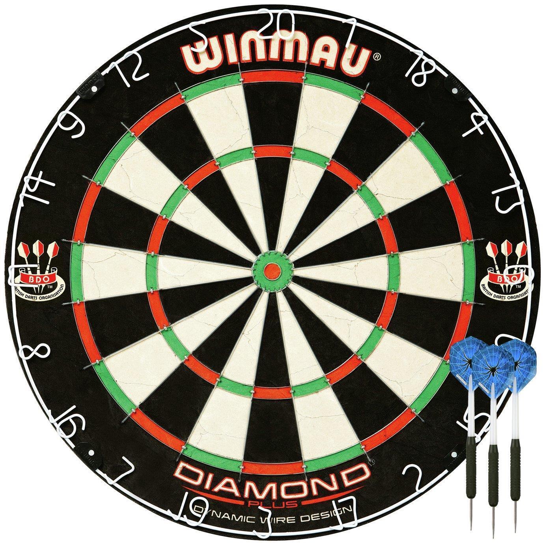 Winmau Diamond Plus Bristle Dartboard And Darts Set Dart Board Game Home Fun UK