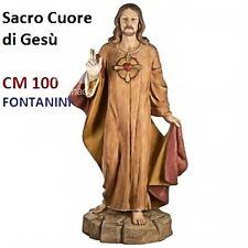 Statua religiosa FONTANINI sacro cuore di gesù cm 100 in resina arte sacra