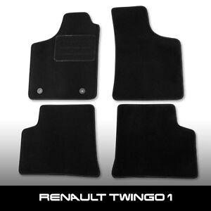 Fussmatten-Renault-Twingo-1-1993-2007-Schwarz-Autoteppiche-nadelfilz-4tlg