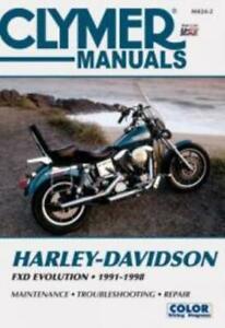 Clymer-Workshop-Manual-Service-Repair-Harley-Davidson-FXD-Evolution-1991-1998