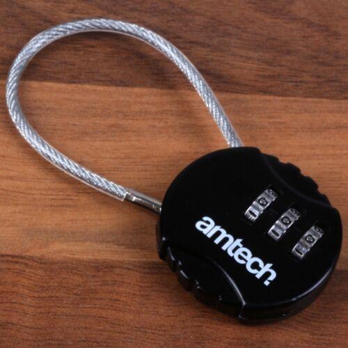 STEEL BRAIDED COMBINATION CABLE LOCK School Locker Gym Laptop Bike Bag Padlock