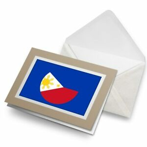 Greetings-Card-Biege-Philippines-Flag-Travel-9165