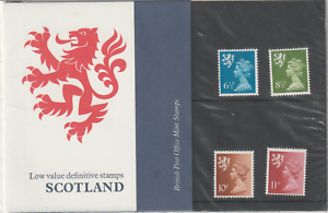 1976-SCOTLAND-MACHINS-6-1-2p-11p-DEFINITIVE-PRESENTATION-PACK-No-85-MNH
