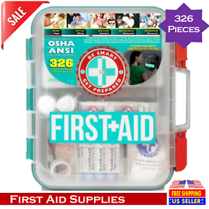 Omar Medical Supplies First Aid Kit 326 Pieces Help Prepare to Situatations