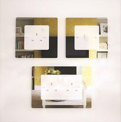 Interrupteur De Lumière simple ou double Chrome Effet Acrylique Socket surround plug