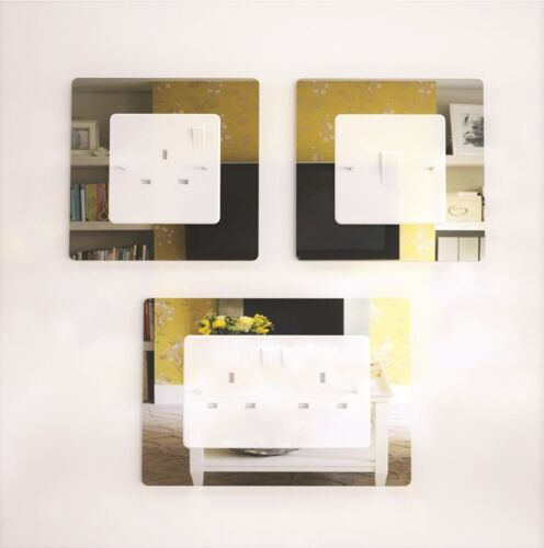 Silver Rose Gold Light Switch Chrome Effect Acrylic Socket Surround Gold