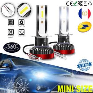 Paire-H1-LED-Phare-de-voiture-Ampoule-Auto-Lampe-Headlight-6000K-Xenon-Blanc