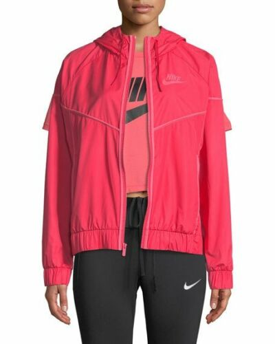 Red 883495 Sz Windrunner Xl Pink 692 Sportswear para Chaqueta mujer Nike New HqTSxS