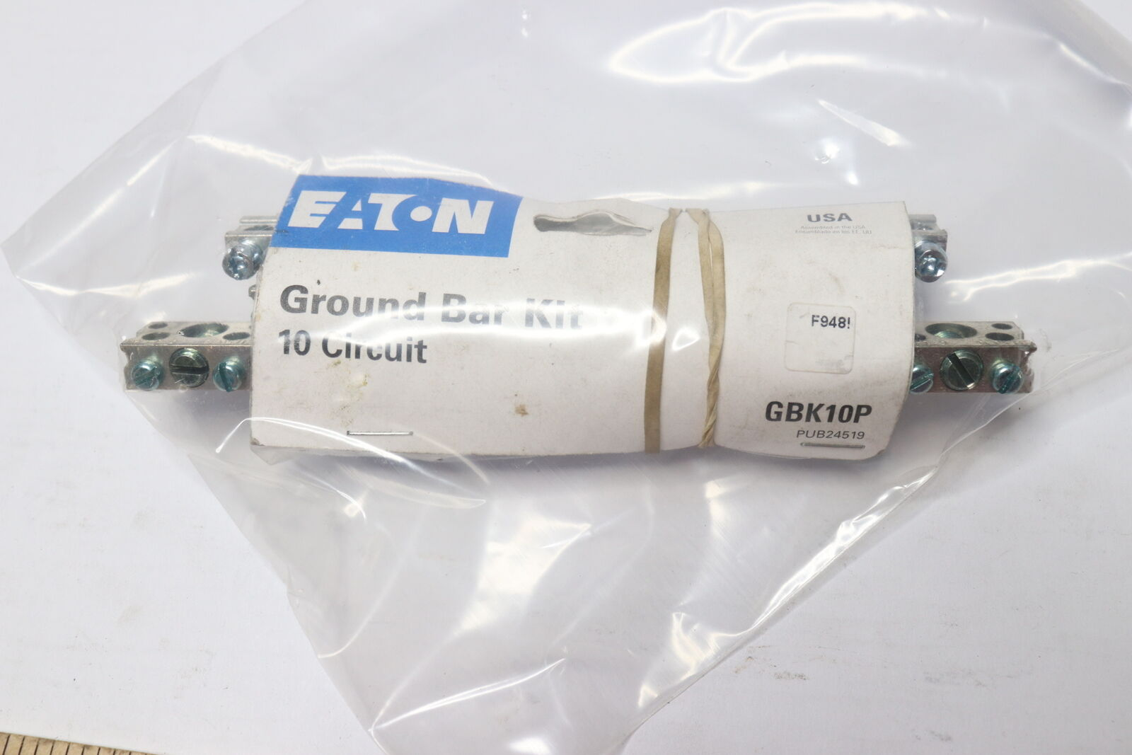 Eaton 10-Terminal BR Aluminum Ground Bar Kit GBK10P 1 Each