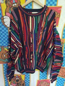 Details about COOGI Sweater Style Vtg 90s XXL Multi Color Retro Hip Hop Rap Biggie Pullover