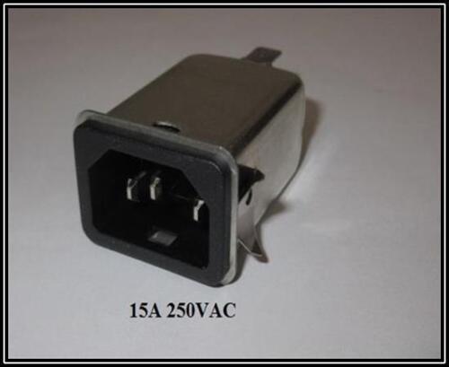 Power frío dispositivos instalación hembra con filtro 15a 250vac 1 trozo