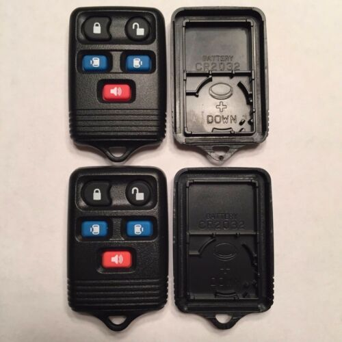2 New Replacement 5 Button Keyless Remote Shell Cases Pads For Ford CWTWB1U511
