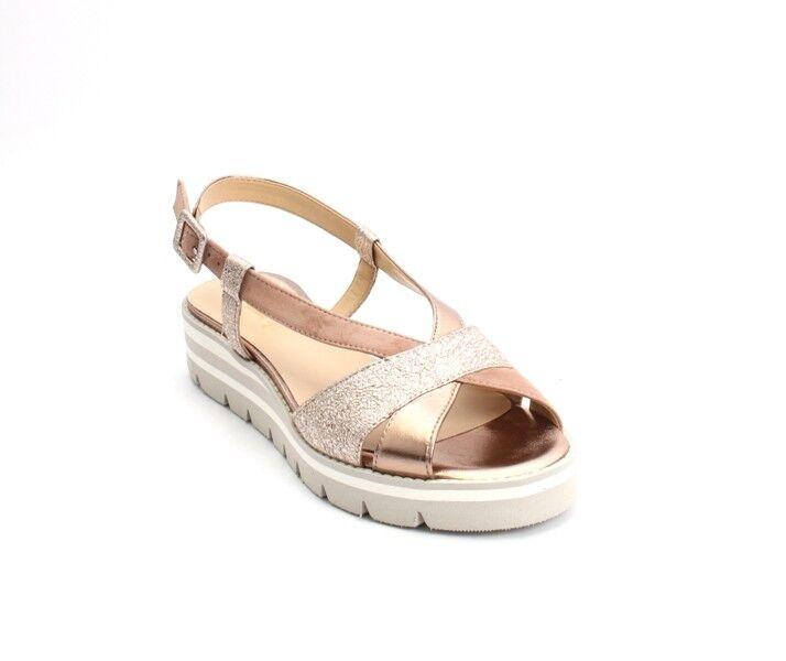 Luca Grossi 610 marron   Bronze   Suede Leather Platform Sandals 37   US 7