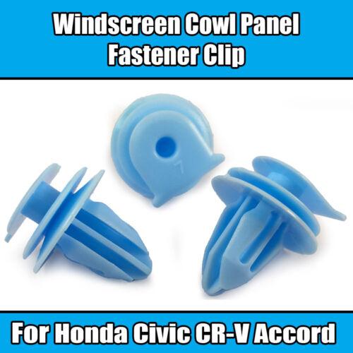 10x Clips Pour Honda CR-V Pare-Brise Capot Essuie-Glace Moteur Cover Trim Fastener