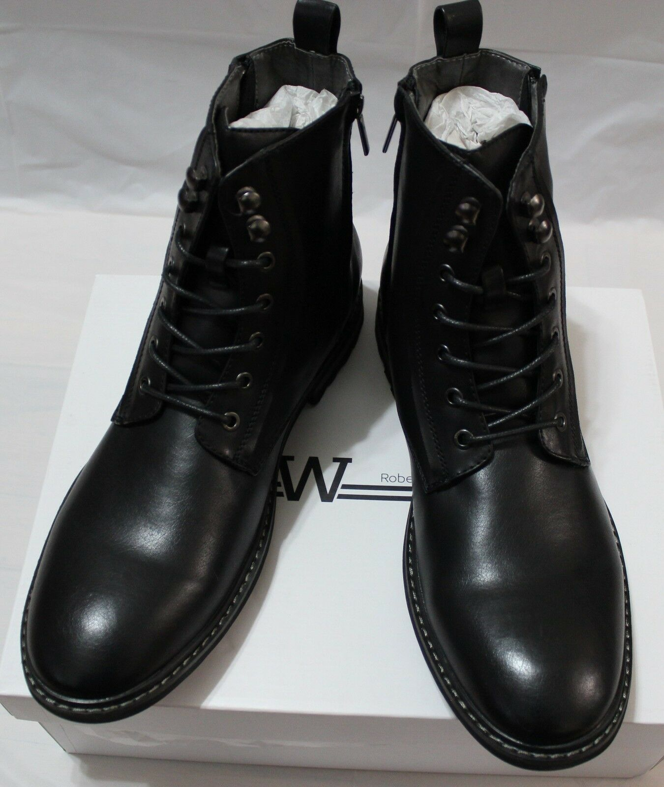 90 ROBERT WAYNE THATCHER BLACK ANKLE BOOT