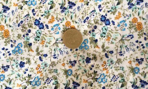 Escala 1:12 De Varios Colores Floral en material de algodón blanco tumdee Mzl Casa De Muñecas