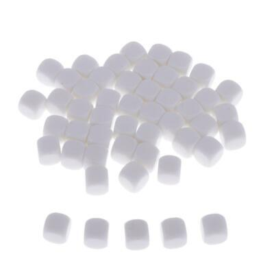 50pcs Blank Dice 12mm Round D6 Die Cubes White for Board Games DIY Sticker