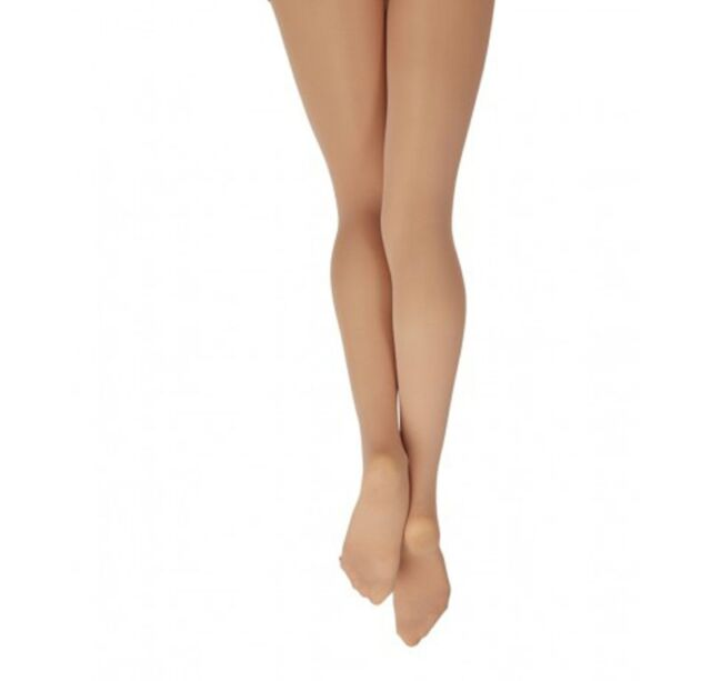 Danskin 331 Girl/'s Size Large 12-14 Light Toast Ultra Shimmery Footed Tights