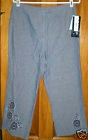 Norton Studio Petites Women's Denim Capri Pants Size 10p
